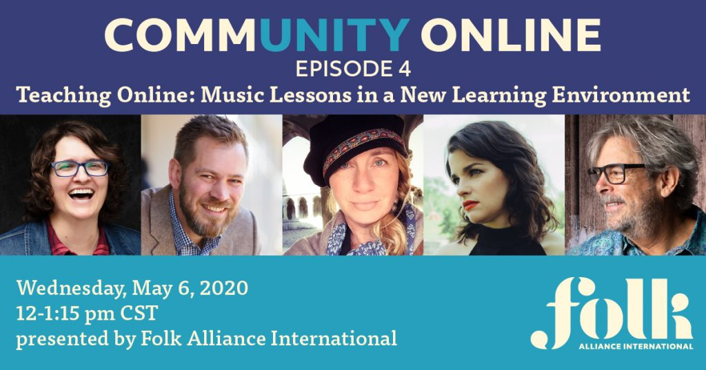 CommUNITY Online #4: Teaching Online - Music Lessons in a New Learning Environment