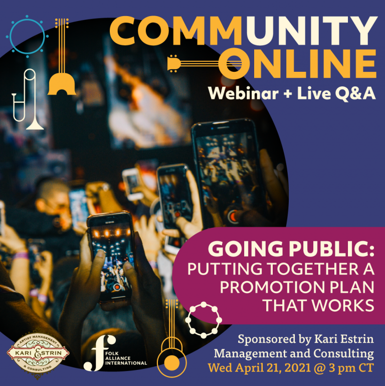CommUNITY Online #4: Putting Together a Promotion Plan That Works (Sponsored by Kari Estrin Management and Consulting)