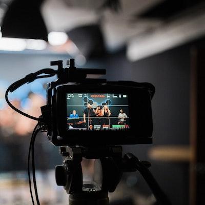 Camera recording a livestream session